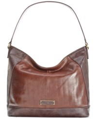 Tignanello Classic Icon Leather Hobo Brown