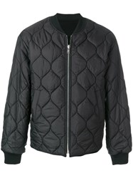 Juun.J Embroidered Back Padded Jacket Polyester Cashmere Wool Black