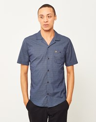 Farah Trebant Short Sleeve Printed Shirt Blue