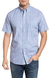 Southern Tide Dover Beach Regular Fit Print Sport Shirt Squall Grey