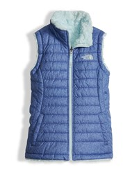 The North Face Girls' Reversible Mossbud Swirl Vest Blue