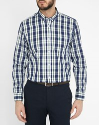 Vicomte A Blue And Green Checked Poplin Shirt