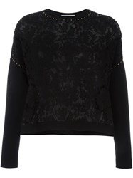 Valentino Lace Front Jumper Black