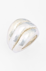 Ippolita 'Glamazon' Hammered Stack Ring Sterling Silver