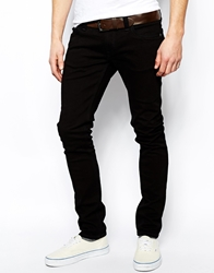 Nudie Jeans Tight Long John Skinny Jeans Black Wash Orgblackblack