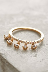 Anthropologie Crystal Dangle Ring Clear