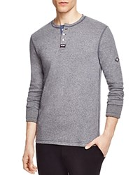 Superdry Heritage Grandad Long Sleeve Henley Tee Monsoon Navy Grindle
