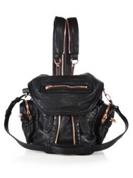 Alexander Wang Marti Mini Convertible Leather Backpack Black