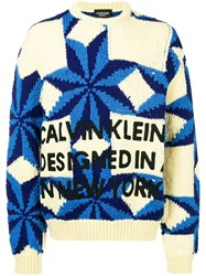 Calvin Klein 205W39nyc Crew Neck Jumper Blue