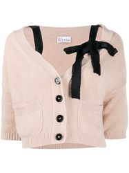 Red Valentino Bow Embellished Cropped Cardigan 60