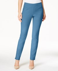 Charter Club Cambridge Tummy Control Slim Leg Pants Only At Macy's Smokey Sky