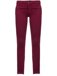 J Brand Skinny Mid Rise Jeans Pink And Purple
