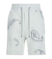 Wooyoungmi Paisley Embroidered Shorts Grey