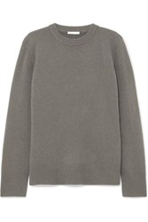 The Row Sibina Wool And Cashmere Blend Sweater Dark Gray