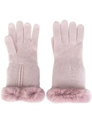 N.Peal Cashmere Gloves Pink