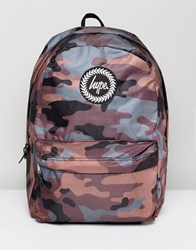 Hype Backpack In Camo Reversible Camo Green