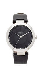 Dkny Stanhope Watch Silver Black