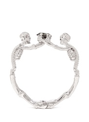 Alexander Mcqueen Skeleton Rock Crystal Bracelet Metallic