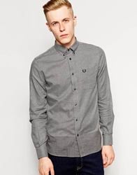 Fred Perry Shirt With Degraded Polka Dot Grey