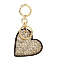 Burberry Shoes And Accessories Sequin Heart Charm Keyring Female Gold