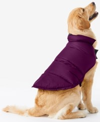 32 Degrees Reversible Down Puffer Coat For Dogs Violet Night