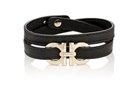 Salvatore Ferragamo Men's Double Wrap Bracelet Black