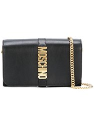 Moschino Letters Clutch Black