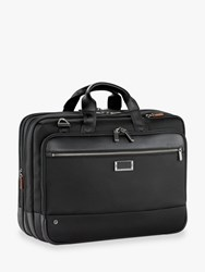 Briggs And Riley Atwork Large Expandable Brief Black