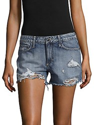 Hidden Jeans Distressed Denim Shorts Dark Blue