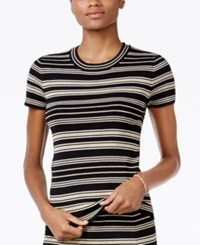 Rachel Roy Striped Sweater Only At Macy's Metallic