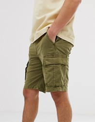 Selected Homme Cargo Shorts In Regular Fit Green