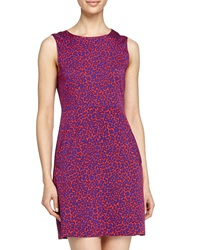 Diane Von Furstenberg Leopard Camo Print Mini Dress Red