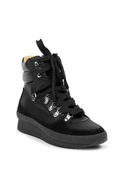 Isabel Marant Brendty Leather Mountain Hiking Boots Black