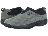 Propet Wash Wear Slip On Pewter Suede Shoes