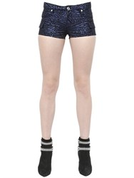 Balmain Star Cotton Blend Jacquard Shorts