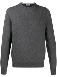 Sun 68 Contrast Elbow Sweatshirt Grey