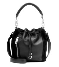 Calvin Klein Jeans Mytheresa.Com Exclusive Re Issue Biker Leather Bucket Bag Black