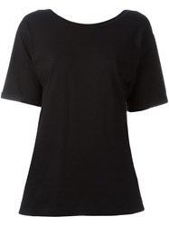 Maison Martin Margiela Mm6 Open Back T Shirt Black