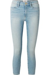 Frame Le High Cropped Skinny Jeans Light Denim