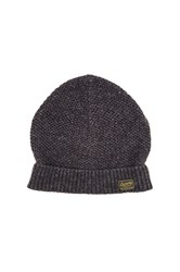 Scotch And Soda Beanie In Neps Melange Quality Charcoal