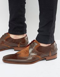 Jeffery West Scarface Leather Suede Derby Shoes Brown