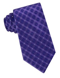 Calvin Klein Modern Medallion Silk Tie Purple