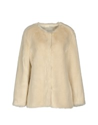 Selected Femme Coats And Jackets Faux Furs White