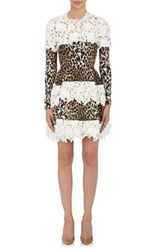 Ungaro Emanuel Women's Leopard Print Silk Fit And Flare Dress White
