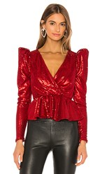 Nbd Mayre Blouse In Red.