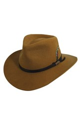 Men's Scala 'Classico' Crushable Felt Outback Hat Brown Pecan