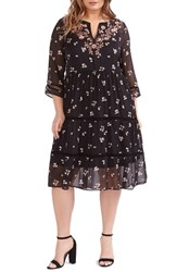 Addition Elle Love And Legend Plus Size Women's Embroidered Floral A Line Dress