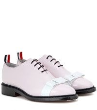 Thom Browne Patent Leather Oxford Shoes Pink