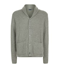 Polo Ralph Lauren Shawl Collar Cashmere Cardigan Male Grey