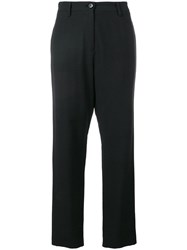 Love Moschino High Wwaisted Tailored Trousers Black